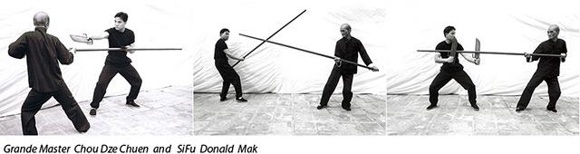 Гранд мастер Чоу Дзе Чуен и сифу Дональд Мак.